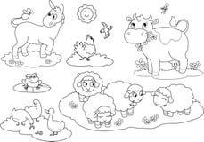 Animais de exploração agrícola 2 da coloração Imagem de Stock
