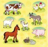 Animais de exploração agrícola. ilustração stock