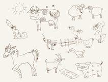 Animais de exploração agrícola Fotos de Stock Royalty Free