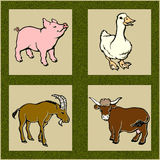 Animais de exploração agrícola Foto de Stock Royalty Free