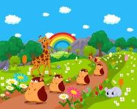 Animais de exploração agrícola com fundo Foto de Stock Royalty Free