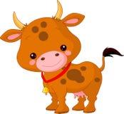 Animais de exploração agrícola. Vaca Imagens de Stock
