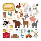 Animais de exploração agrícola do vetor Fotografia de Stock Royalty Free