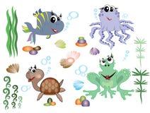 Animais de mar Foto de Stock