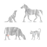 Animais de Origami Imagem de Stock Royalty Free