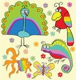 Animais do arco-íris ilustração royalty free