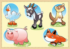 Animais do bebê da exploração agrícola ilustração do vetor