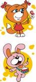 Animais do divertimento Fotos de Stock Royalty Free