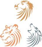 Animais do estilo do Swish Fotografia de Stock