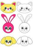 Animais do livro de coloração Fotografia de Stock