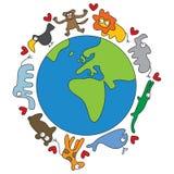Animais do mundo ilustração royalty free
