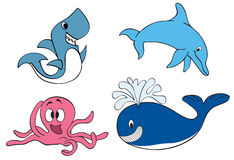Animais do oceano Fotos de Stock
