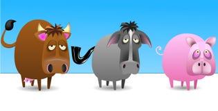 Animais do pátio Imagem de Stock