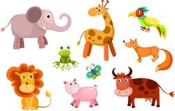 Animais do vetor ajustados Fotos de Stock