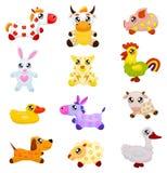 Animais domésticos do brinquedo Fotografia de Stock