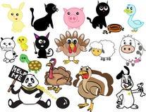 Animais domésticos estilizados Imagem de Stock