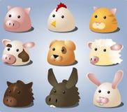 Animais dos desenhos animados Fotografia de Stock Royalty Free