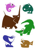 Animais dos desenhos animados Foto de Stock Royalty Free