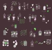 Animais 01 dos desenhos animados Imagem de Stock