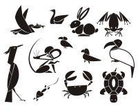 Animais e pássaros Fotografia de Stock Royalty Free