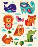 Animais e pássaros engraçados Foto de Stock Royalty Free