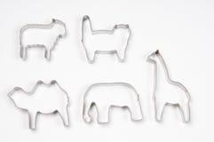Animais em cortadores da pastelaria imagens de stock royalty free