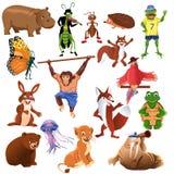 Animais engraçados Ilustração Royalty Free