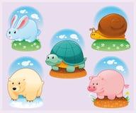 Animais engraçados ilustração stock