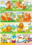Animais engraçados - artistas Imagens de Stock Royalty Free