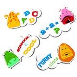 Animais engraçados de Stiker Fotos de Stock