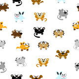 Animais engraçados dos desenhos animados Fotos de Stock Royalty Free