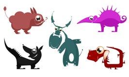 Animais fantásticos dos desenhos animados Fotos de Stock