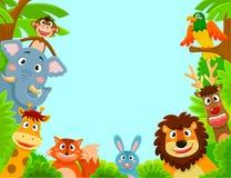 Animais felizes ilustração royalty free