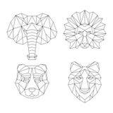 Animais geométricos poligonais ilustração royalty free
