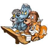 Animais na escola ilustração do vetor