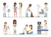 Animais no veterinário ilustração royalty free