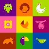 Animais originais do vetor Foto de Stock