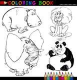 Animais para o livro ou a página de coloração Foto de Stock Royalty Free