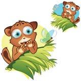 Animais pequenos dos desenhos animados do vetor Fotografia de Stock