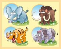 Animais pré-históricos ilustração royalty free