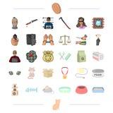 Animais, proteção, negócio e o outro ícone da Web Fotos de Stock