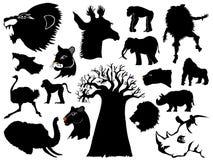 Animais selvagens africanos ilustração do vetor