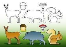 Animais selvagens da coloração Imagem de Stock