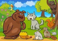 Animais selvagens da floresta Fotografia de Stock