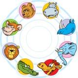 Animais selvagens dos desenhos animados Imagem de Stock
