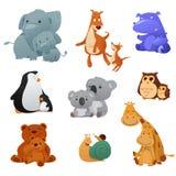 Animais selvagens e seu bebê novo Fotos de Stock Royalty Free