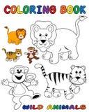 Animais selvagens - livro de coloração Fotos de Stock Royalty Free