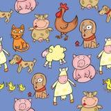 Animais sem emenda Foto de Stock Royalty Free