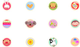Animal. Cute bear .tiger ,rabbit,monkey ,pig cow Royalty Free Stock Image