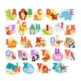 Animal abc for preschool education Stock Images